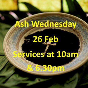 Ash Wednesday 2020 flyer